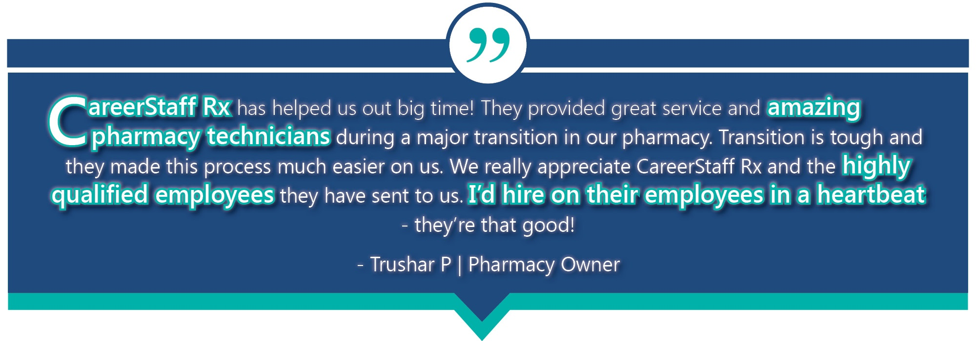 RX Trushar Testimonial Email Template